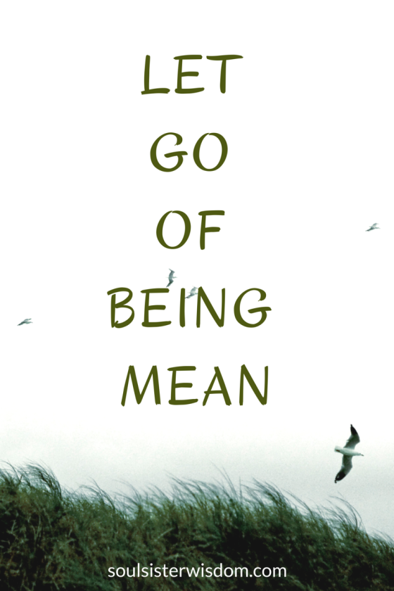 LETTING GO OF BEING MEAN