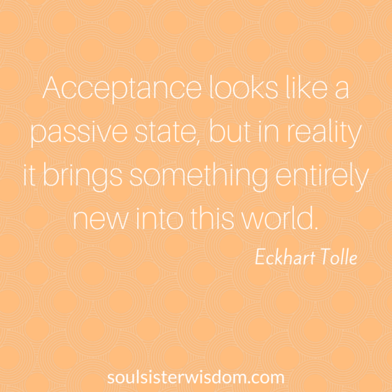 Acceptance looks like a passive state,